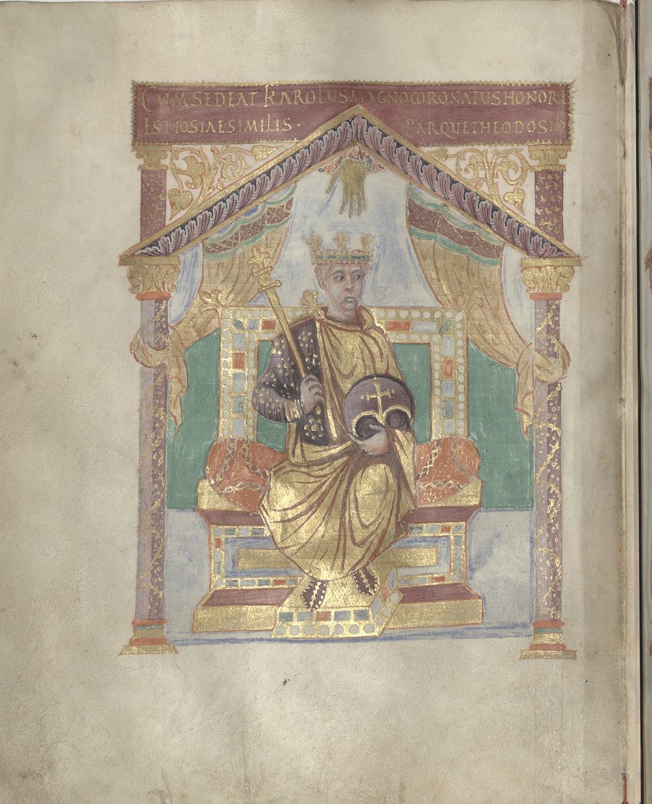 Psalterium Caroli Calvi [Psalter of Charles the Bald] p.10, Liuthard, Palace School around 869-870, National Library of France, Manuscrits, Latin 1152 Parchment, 173 ff., 240 x 195 mm, In Copyright